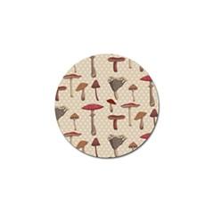 Mushroom Madness Red Grey Brown Polka Dots Golf Ball Marker (10 Pack)