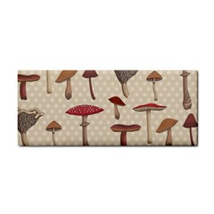 Mushroom Madness Red Grey Brown Polka Dots Cosmetic Storage Cases by Mariart