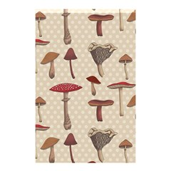 Mushroom Madness Red Grey Brown Polka Dots Shower Curtain 48  X 72  (small)  by Mariart