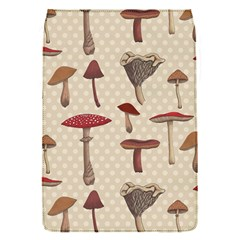 Mushroom Madness Red Grey Brown Polka Dots Flap Covers (s)  by Mariart