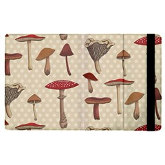 Mushroom Madness Red Grey Brown Polka Dots Apple Ipad Pro 9 7   Flip Case by Mariart