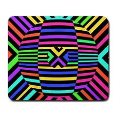Optical Illusion Line Wave Chevron Rainbow Colorfull Large Mousepads by Mariart