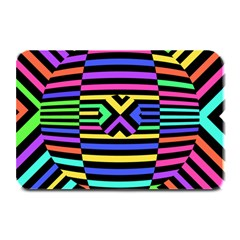 Optical Illusion Line Wave Chevron Rainbow Colorfull Plate Mats by Mariart