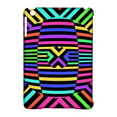 Optical Illusion Line Wave Chevron Rainbow Colorfull Apple Ipad Mini Hardshell Case (compatible With Smart Cover) by Mariart