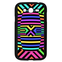 Optical Illusion Line Wave Chevron Rainbow Colorfull Samsung Galaxy Grand Duos I9082 Case (black) by Mariart