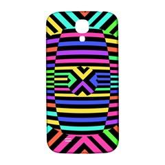 Optical Illusion Line Wave Chevron Rainbow Colorfull Samsung Galaxy S4 I9500/i9505  Hardshell Back Case by Mariart