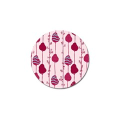 Original Tree Bird Leaf Flower Floral Pink Wave Chevron Blue Polka Dots Golf Ball Marker (10 Pack) by Mariart