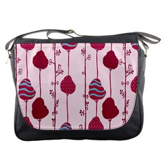 Original Tree Bird Leaf Flower Floral Pink Wave Chevron Blue Polka Dots Messenger Bags by Mariart