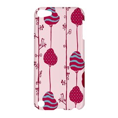 Original Tree Bird Leaf Flower Floral Pink Wave Chevron Blue Polka Dots Apple Ipod Touch 5 Hardshell Case by Mariart