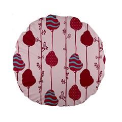 Original Tree Bird Leaf Flower Floral Pink Wave Chevron Blue Polka Dots Standard 15  Premium Round Cushions by Mariart