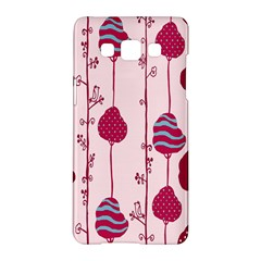 Original Tree Bird Leaf Flower Floral Pink Wave Chevron Blue Polka Dots Samsung Galaxy A5 Hardshell Case  by Mariart