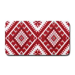Model Traditional Draperie Line Red White Triangle Medium Bar Mats