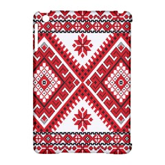 Model Traditional Draperie Line Red White Triangle Apple Ipad Mini Hardshell Case (compatible With Smart Cover) by Mariart