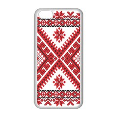 Model Traditional Draperie Line Red White Triangle Apple Iphone 5c Seamless Case (white) by Mariart