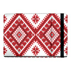 Model Traditional Draperie Line Red White Triangle Samsung Galaxy Tab Pro 10 1  Flip Case by Mariart