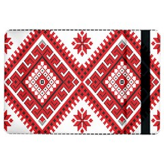 Model Traditional Draperie Line Red White Triangle Ipad Air 2 Flip by Mariart