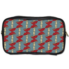 Mushroom Madness Red Grey Polka Dots Toiletries Bags 2 Side by Mariart