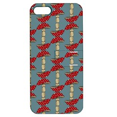 Mushroom Madness Red Grey Polka Dots Apple Iphone 5 Hardshell Case With Stand by Mariart