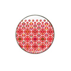 Plaid Red Star Flower Floral Fabric Hat Clip Ball Marker (10 Pack) by Mariart