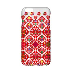 Plaid Red Star Flower Floral Fabric Apple Iphone 6/6s Hardshell Case by Mariart