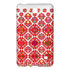 Plaid Red Star Flower Floral Fabric Samsung Galaxy Tab 4 (7 ) Hardshell Case  by Mariart