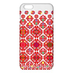 Plaid Red Star Flower Floral Fabric Iphone 6 Plus/6s Plus Tpu Case by Mariart
