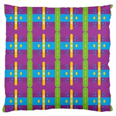 Stripes And Dots                     Large Flano Cushion Case (two Sides) by LalyLauraFLM