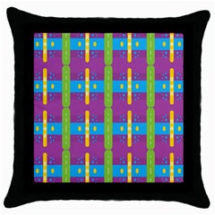 Stripes And Dots                           Throw Pillow Case (black) by LalyLauraFLM