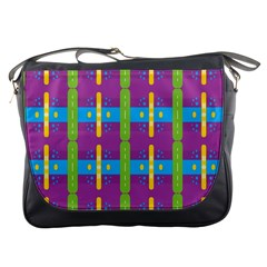 Stripes And Dots                           Messenger Bag by LalyLauraFLM