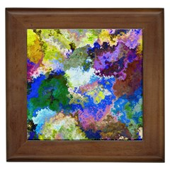 Color Mix Canvas                           Framed Tile by LalyLauraFLM