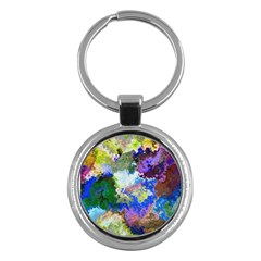 Color Mix Canvas                           Key Chain (round) by LalyLauraFLM