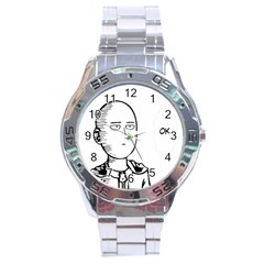 Saitama Stainless Steel Analogue Watch by quirogaart