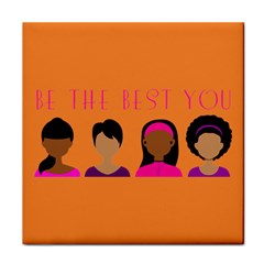 Black Girls Be The Best You Magnet Ceramic Tile by kenique