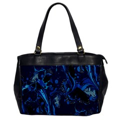 Pattern Butterfly Blue Stone Office Handbags by Mariart