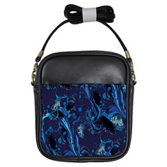 Pattern Butterfly Blue Stone Girls Sling Bags by Mariart