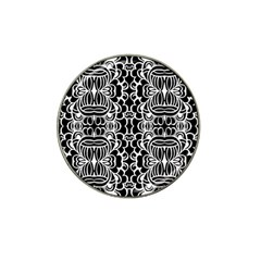 Psychedelic Pattern Flower Black Hat Clip Ball Marker by Mariart
