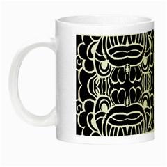 Psychedelic Pattern Flower Black Night Luminous Mugs