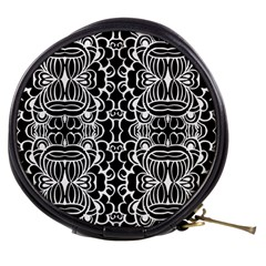 Psychedelic Pattern Flower Black Mini Makeup Bags by Mariart