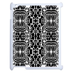 Psychedelic Pattern Flower Black Apple Ipad 2 Case (white) by Mariart