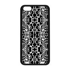 Psychedelic Pattern Flower Black Apple Iphone 5c Seamless Case (black) by Mariart