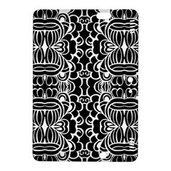 Psychedelic Pattern Flower Black Kindle Fire Hdx 8 9  Hardshell Case by Mariart