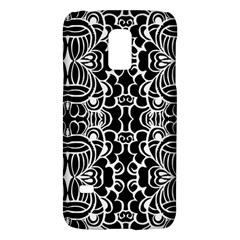 Psychedelic Pattern Flower Black Galaxy S5 Mini by Mariart