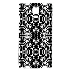 Psychedelic Pattern Flower Black Galaxy Note 4 Back Case by Mariart