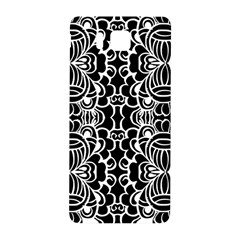 Psychedelic Pattern Flower Black Samsung Galaxy Alpha Hardshell Back Case by Mariart