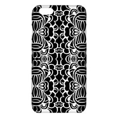 Psychedelic Pattern Flower Black Iphone 6 Plus/6s Plus Tpu Case by Mariart