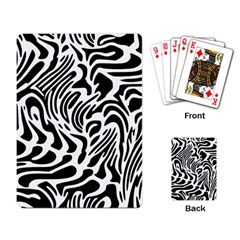 Psychedelic Zebra Black White Line Playing Card by Mariart