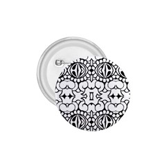 Psychedelic Pattern Flower Crown Black Flower 1 75  Buttons by Mariart