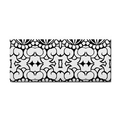 Psychedelic Pattern Flower Crown Black Flower Cosmetic Storage Cases by Mariart