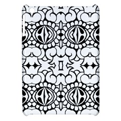 Psychedelic Pattern Flower Crown Black Flower Apple Ipad Mini Hardshell Case by Mariart