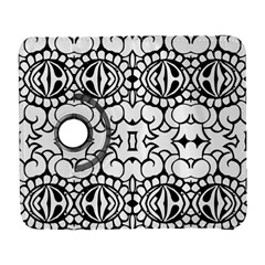 Psychedelic Pattern Flower Crown Black Flower Galaxy S3 (flip/folio) by Mariart